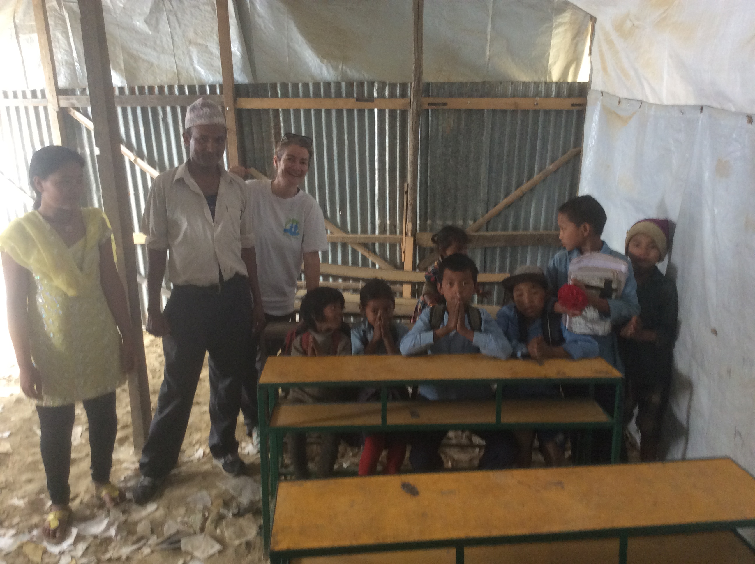 Sundara Devi classroom after the earthquake and before the rebuild